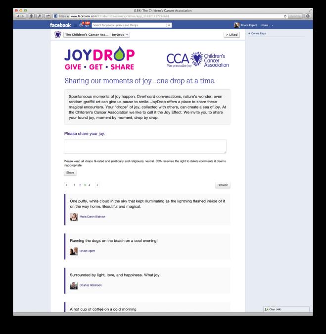 JoyDrop Facebook App