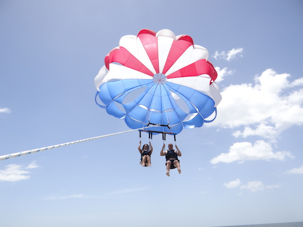 Bruce and Gayle Parasailing