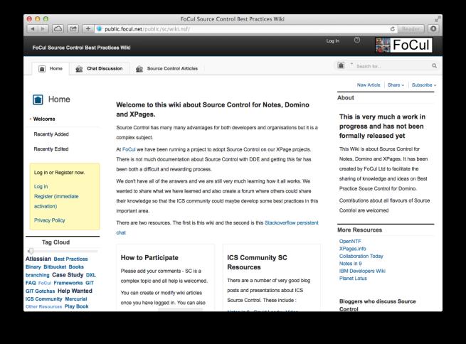 FoCul Source Control Best Practices Wiki