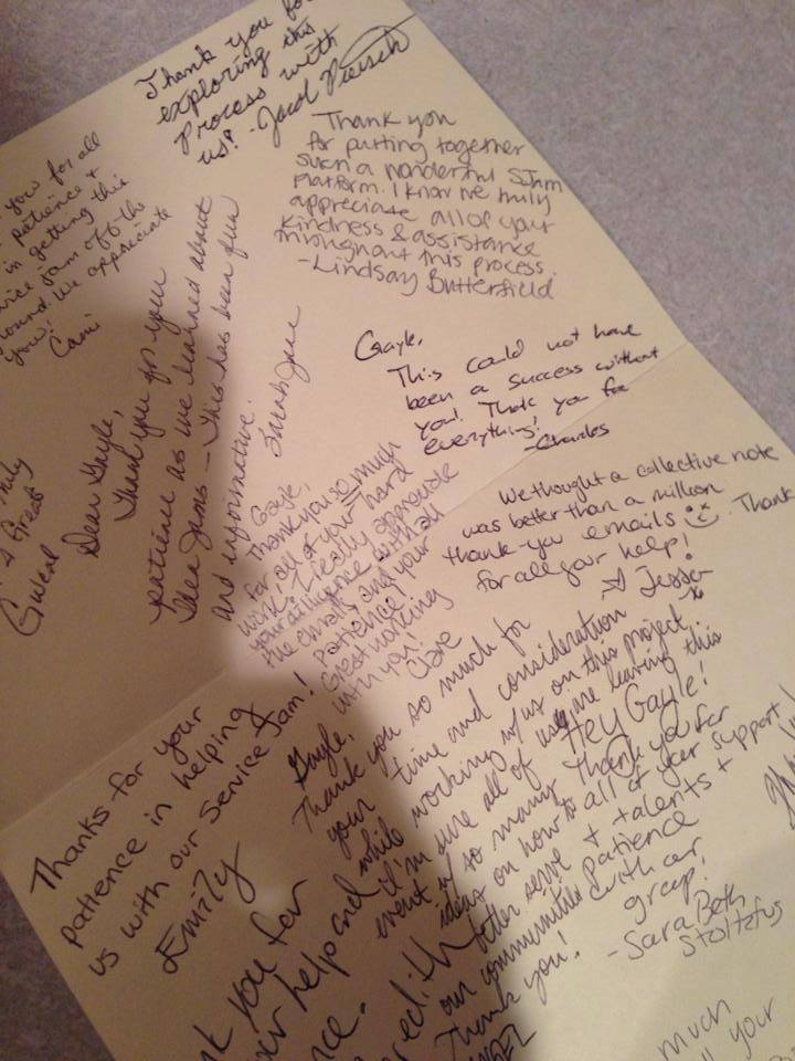 Thank you card from the University of Texas LBJ School