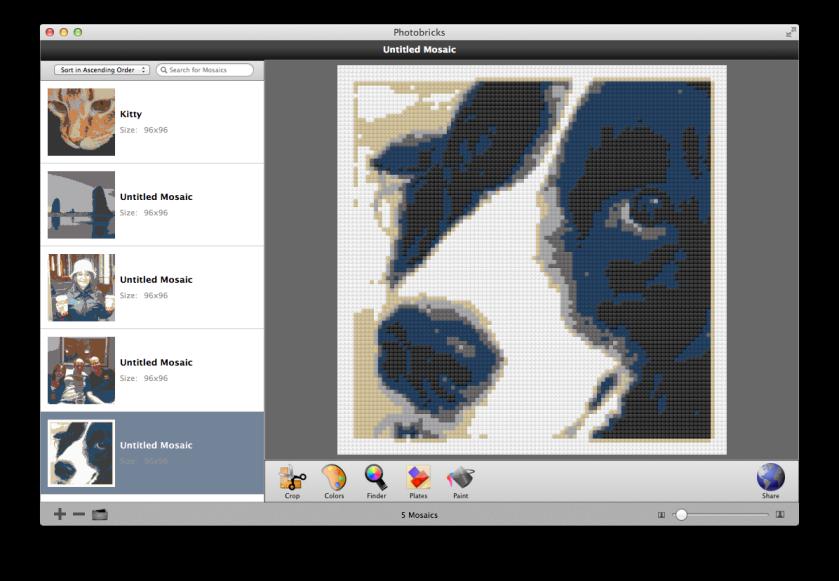 Photobricks screenshot of Domino