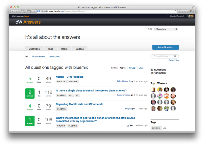 developerWorks Answers