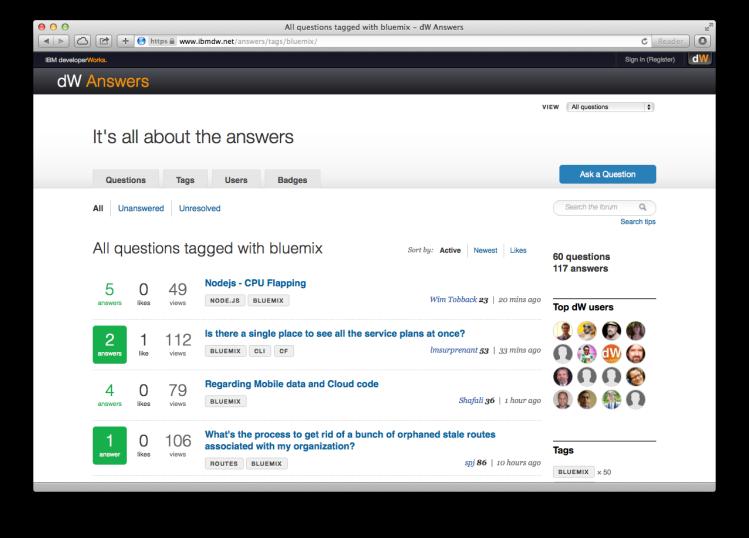 developerWorks Answers
