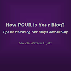 Glenda Watson Hyatt, author of How Pour is Your Blog free ebook